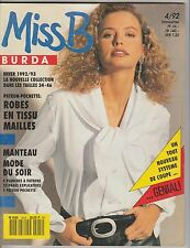 Magazine Miss Burda N°4 Hiver 1992 patrons couture