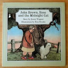 John Brown,Rose and the Midnight Cat by Jenny Wagner 1978 HC DJ Ron Brooks Illus