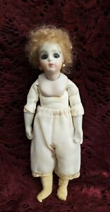 Vintage Reproduction Artist Swivel Head Bisque Head Doll Signed By Artist Irma