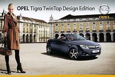 Opel Tigra TwinTop Design Edition Prospekt 1/07 brochure 2007 Autoprospekt Auto