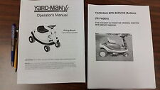 Transmission / Service   and  Operator Manuals MTD Yardbug YARD BUG Beetle Mower
