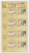 SINGAPORE - 1990, 150 Years of Postage Stamps M/Sheet x 4, mint (S97)