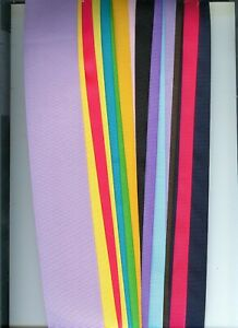 Grosgrain ribbon 3 in. 10 yds 10 different colors plus 3/8 inch or uchuz +3/8