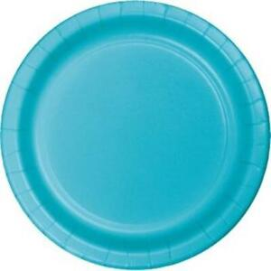 Bermuda Blue 10 Inch Paper Plates 24 Pack Party Tableware Decorations Supplies