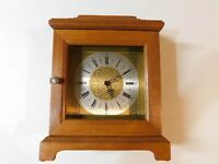 Vintage Synchron 110V Electric Motor Mantle Clock Solid Wood Made in USA