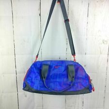 Vintage Nike Swoosh Logo Duffel Duffle Bag F1N15H Strong Blue Infared Red