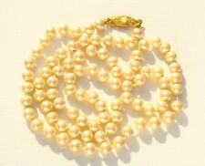 NECKLACE pearl necklace, signature Japan