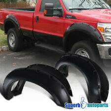 11-16 Ford F-250 F-350 Super Duty Smooth Paintable Pocket Rivet Fender Flares