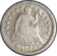 1853-P H10C SEATED SILVER HALF DIME VG/FINE DETAILS CLEANED /CULL COND 041521029