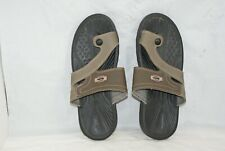 Bata Men's Size 7 Brown And Taupe Leather Toe Loop Sandals Casual Comfort Shoes