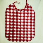 Set of 5 VTG Red White Checked Large Cloth Lobster Bibs. Tiny lobsters On Checks
