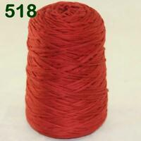 Sale 1 Cone 400g Worsted Cotton Chunky Super Bulky Hand Knitting Yarn Poppy Red