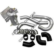 Aluminum Radiator Hard Pipe Kit for RX7 13B Engine RX-8 RX8 Swap Black Hose