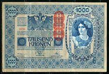 AUSTRIA HUNGARY 1902 1000  KRONEN   NOTE  AS SHOWN