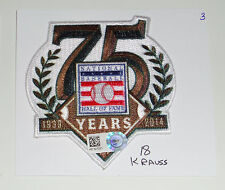 MARC KRAUSS GAME USED 75 YEARS OF HALL OF FAME HOUSTON ASTROS HOF 7/27/14 PATCH