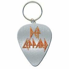 Def Leppard Keyring Keychain Guitar Pick Band Logo Hysteria Official Metal