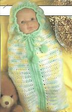 *Baby (not doll) Bunting Snuggle Sack crochet PATTERN INSTRUCTIONS
