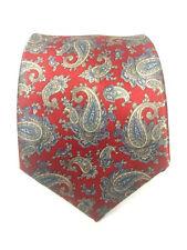 Etienne Aigner Mens Red Paisley Pattern 100 % Silk Classic NeckTie