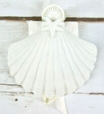 Margaret Furlong Porcelain Shell Angel Holding Starfish Christmas Ornament Vtg