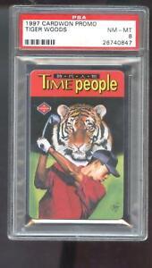 1997 Cardwon Promo Taiwan Tiger Woods Golf Time People ROOKIE Card PSA 8 Graded