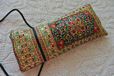 Floral Kilim Patterned Sun Glasses EyeGlasses Fabric Case Cover with Long Strap