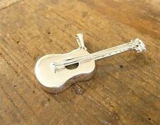 Pendentif guitare en argent massif