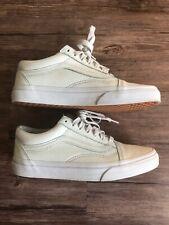 Vans Old Skool Men's 6 Women's 7.5 Classic Leather Skate Shoes Mono Baby Blue
