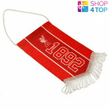 LIVERPOOL MINI PENNANT HANGING CAR ROOM 1892 OFFICIAL FOOTBALL SOCCER CLUB NEW