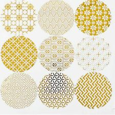 Shiny Gold Design Gift Seals Paper Sticker Flower Type Sealing  Stickers