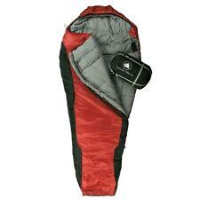 10T Innoko 400M - Saco formato momia individual, 200 x 85/55 cm, negro/rojo, sac
