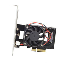 PCI-E 3.0 x4 Lane Host Adapter Converter Card M.2 NGFF  to Nvme m-KEY with Fan