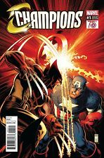 CHAMPIONS #1 NEW! ADAMS CAPTAIN AMERICA 75TH ANNIVERSARY VARIANT 1:50