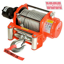 HYDRAULIC WINCH 20000 lb WINCHMAX ORIGINAL ORANGE WINCH, STEEL ROPE - WINCH ONLY