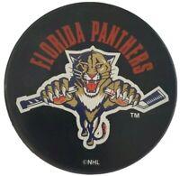 FLORIDA PANTHERS VINTAGE NHL OFFICIAL HOCKEY PUCK INGLASCO + VEGUM MFG.