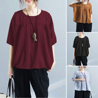 Women Lady Summer Fall Loose Clothes Half Sleeve Tunic Swing Tops Shirt Blouses