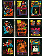36 Donkey Kong Sticker & Cards Set - Nintendo 1982 - Super Mario / Game & Watch