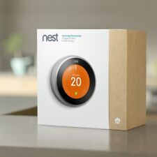 Nest Learning Thermostat, 3rd Generation Stainless Steel T3010GB +Stand AT3000GB
