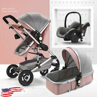 Luxury Baby Stroller Newborn Carriage Infant Travel Car Foldable Pram Pushchair