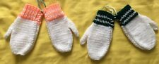 Handknitted mittens - 2 pairs offer - poss fit 2 -4 years