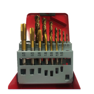 Machine Tap and Drill Set - Spiral Point TiN Coated