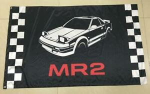 Toyota MR 2 AW11. Flags. Large 3ft x 5ft size. 1.6 ltr, TRD, Midship , MR2 Racin