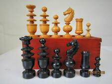 Antique french chess set tournoi Taille K 91 mm et ORG box no Board