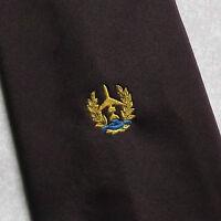 Vintage Tie MENS Necktie Crested Club Association Society PLANE PILOT AEROPLANE