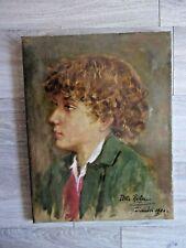 HST Portrait de jeune garçon par YVETTE ROCHER 1904