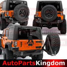Rock Crawler Rear Bumper+Tire Carrier Mount+Hitch Fit 07-17 Jeep JK Wrangler