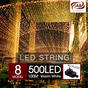 500 LED 100m Warm White String Fairy Lights Christmas Tree Xmas Party Wedding