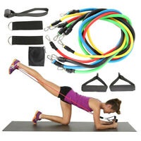 11Pcs/Set Gym Fitness Resistance Bands Tubes with Handle Door Anchor Ankle Strap