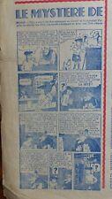 Coeurs Vaillants N° 2 1939 - Tintin et le Mystère de l'Avion Gris préédition