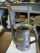 Vintage Huffman Swing Spout Half Gallon Oil Can Service Station Dispensr antique