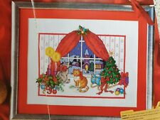 Cats in the Window, Christmas Cross Stitch Chart only, by Karen Brittan